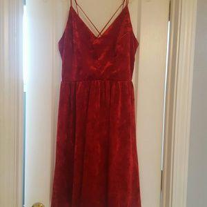 105e80fb699 Le Lis Dresses - Red Crushed Velvet Spaghetti Strap Dress Large